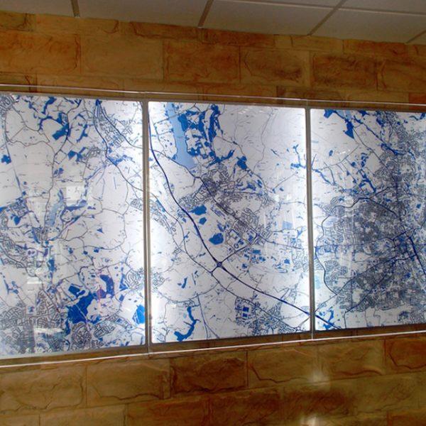 Illuminated Wall Maps (Including Artwork)
